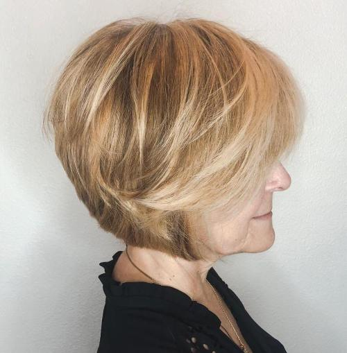 Modern Jaw-Length Bob With Swoopy Bangs