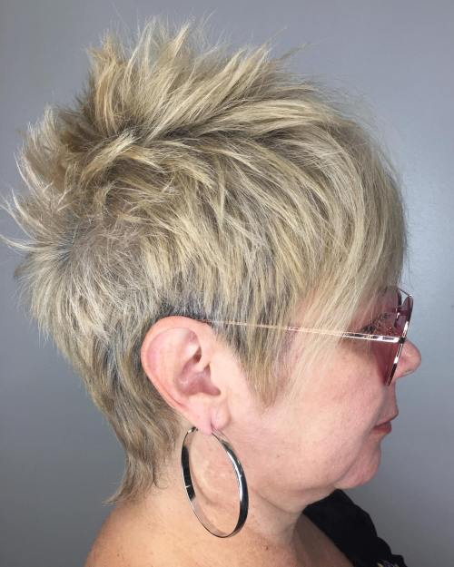 Over 60 Spiky Pixie Fauxhawk