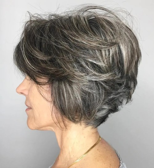 Gray Balayage for Graying Brown Hair