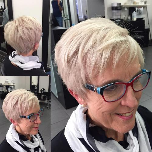 Plus Tapered Blonde Pixie Hairstyle
