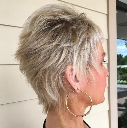 Over Feathered Blonde Pixie