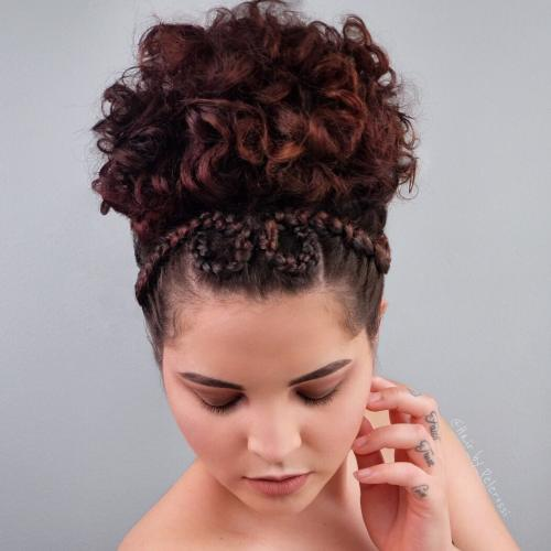 Elegant Curly Updo for Shorter Hair