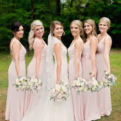 Bride's And Bridesmaids Wedding Hair