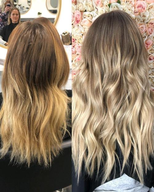 Before Ffter Extensions Transformation