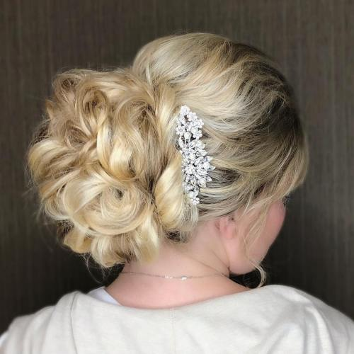 Romantic Bridal Uodo With Hair Jewelery