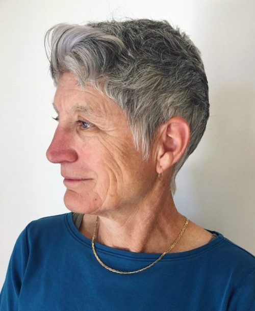 Tapered Natural Grey Pixie