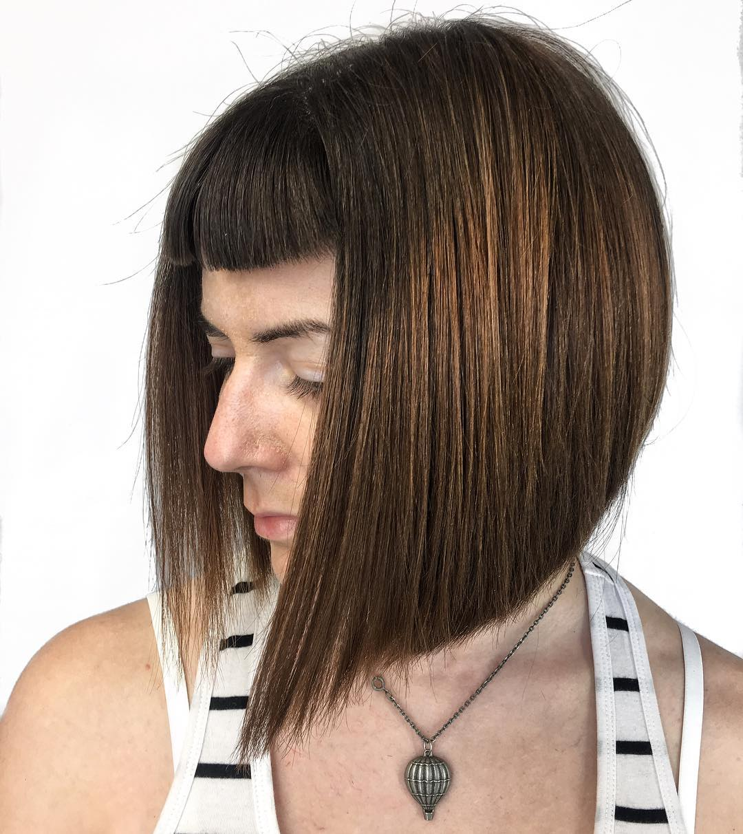 Straight Inverted Bob With Short Bangs