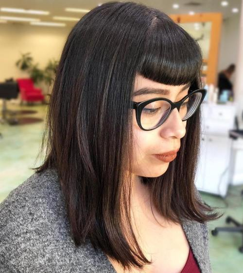 Inverted Bob With Very Short Bangs