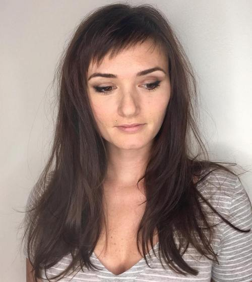 Long Hair With Short Wispy Bangs