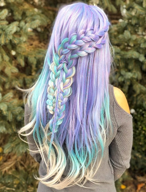 Unicorn Colored Pastel Wig