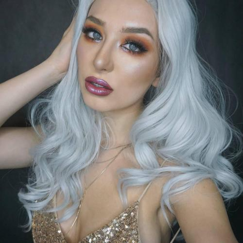 Platinum Grey Faux Hair