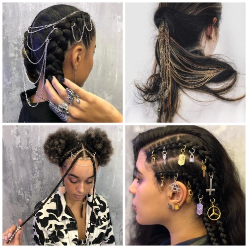 Chains And Piercing For Hair