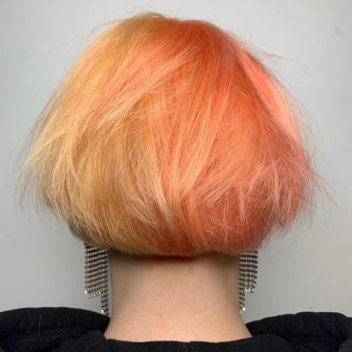 Short Bob With Peach Gradient