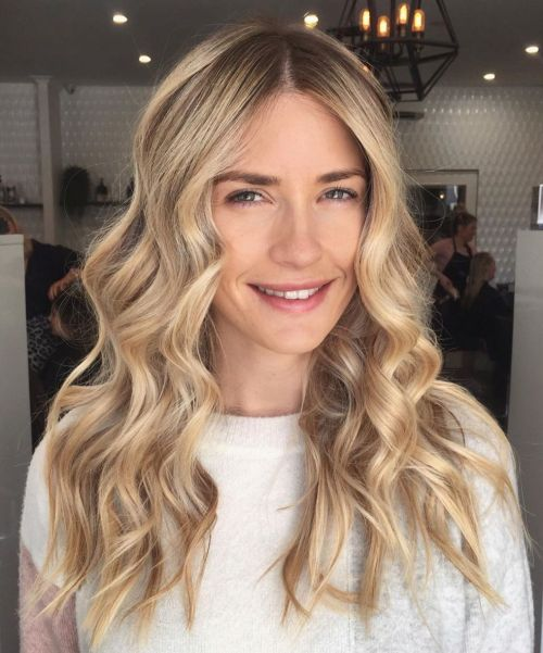 Champagne Blonde Fall Haircolor