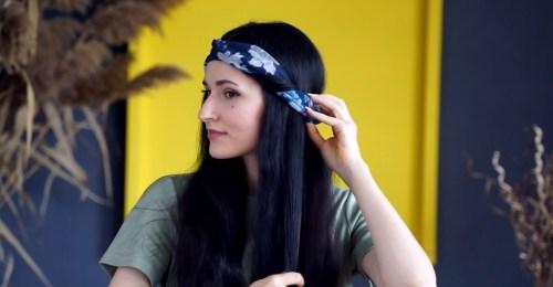 How to Make a Wrapped Headband: Step 3