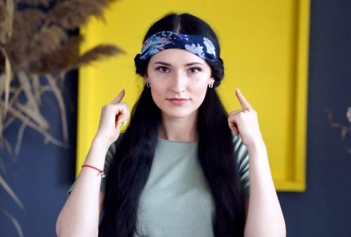 How to Make a Wrapped Headband: Step 5