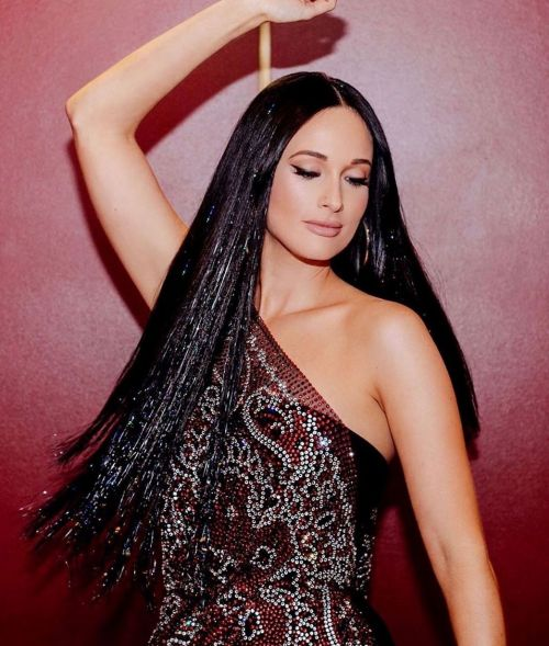 Kasey Musgraves With Hair Tinsel