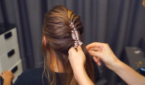 Ribbon Mohawk Braid: Step 3