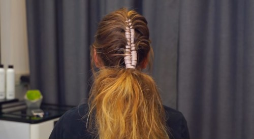 Ribbon Mohawk Braid: Step 5