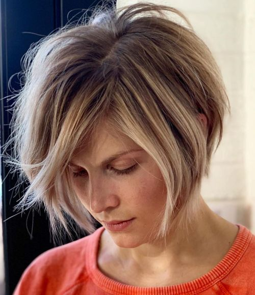 Chin-Length Bob With Messy Layers