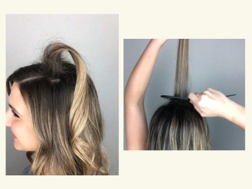 How To Tease Hair: Step 3
