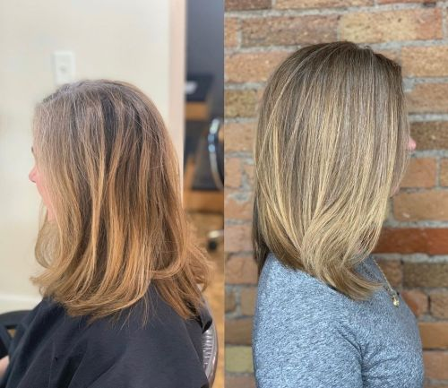 Gray Blonde Color Blending