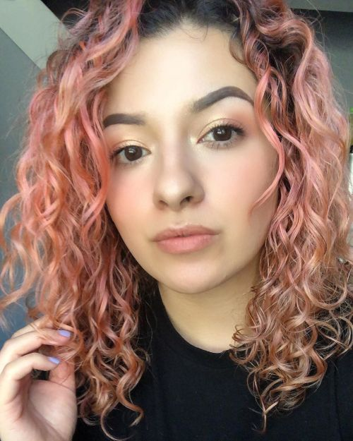 Peach Color For Permed Hair