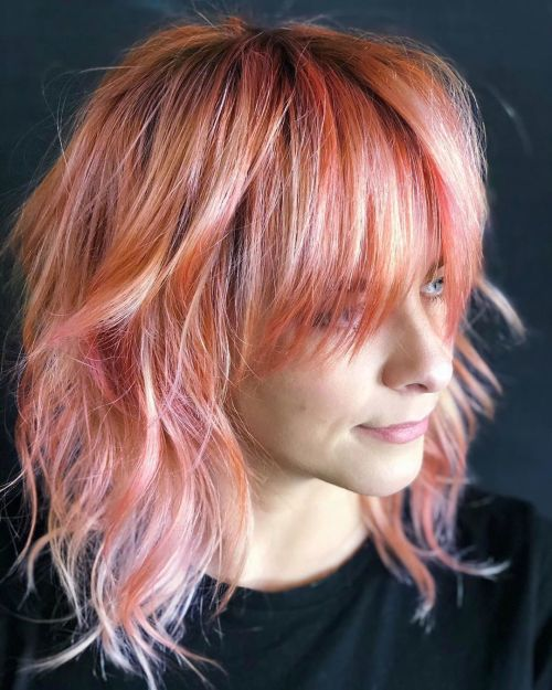 Holographic Peach Shag