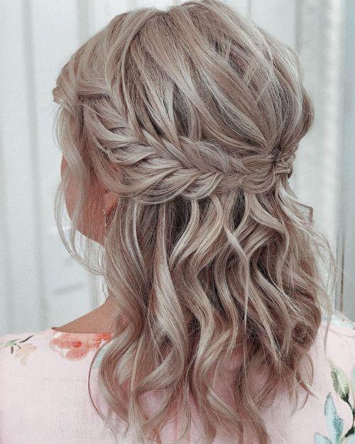 French Fishtail Braid For Medium Hair