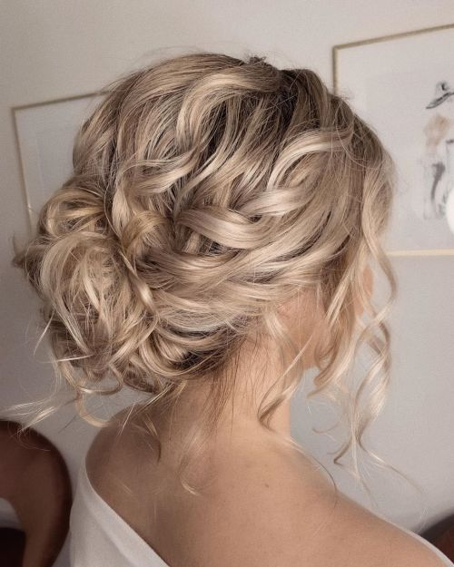 Blonde Updo With Micro Twist