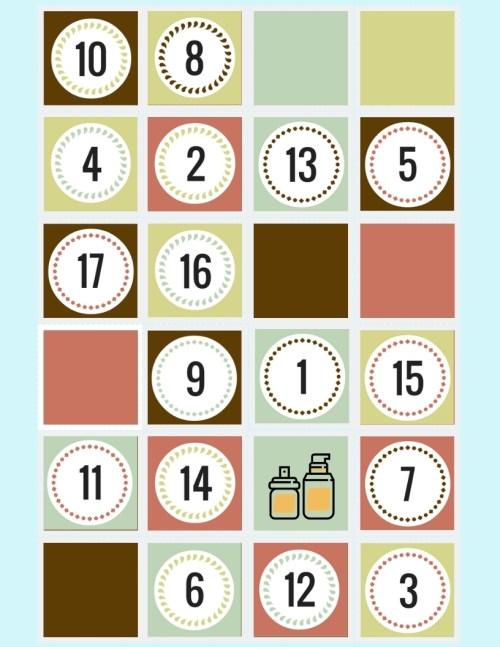 Hair Serum in a Christmas Gift Calendar
