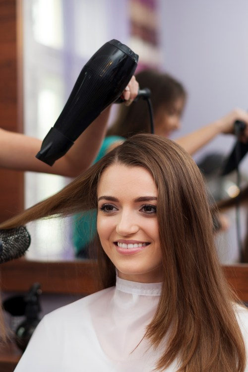 Woman Getting a Blowout and a Haircut Consultation