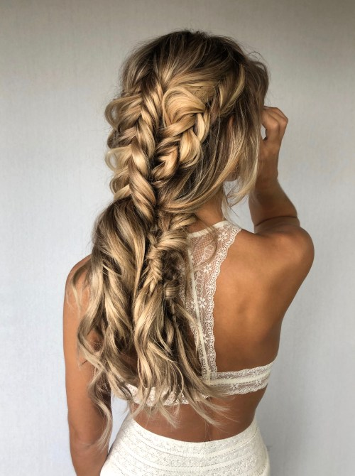 Boho Hairstyle with Three Organic Braids