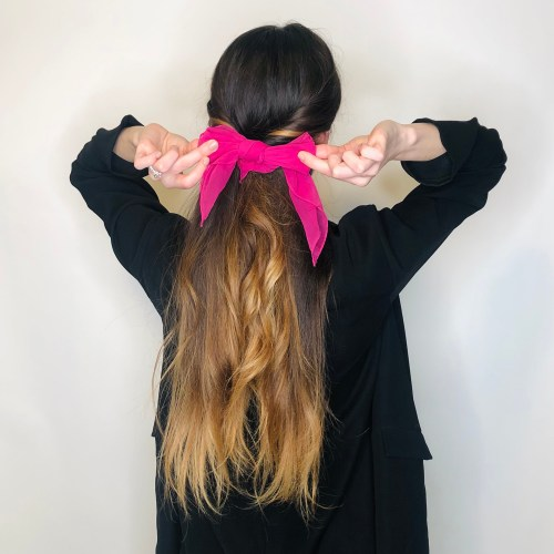 Topsy Tail with a Hair Scarf