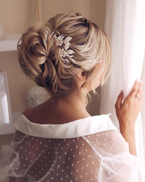 Bridal Hair with Hair Pins