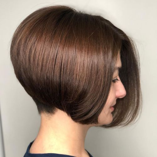 Stacked Bob for Thin Hair with Undercut Nape