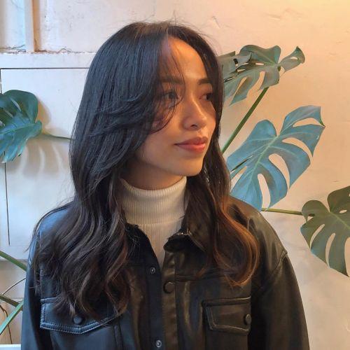 Digital Perms on Long Asian Hair