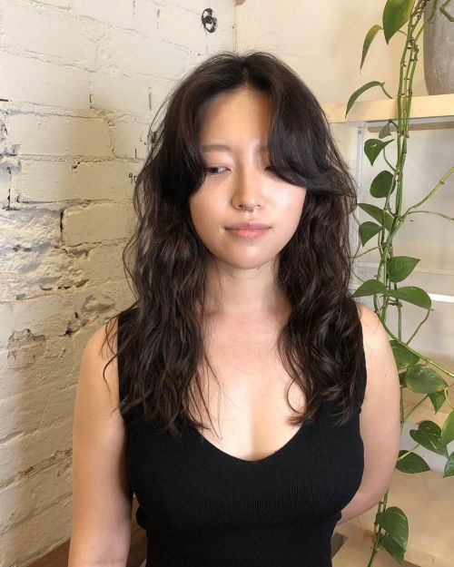 Asian Woman with Digital Curls