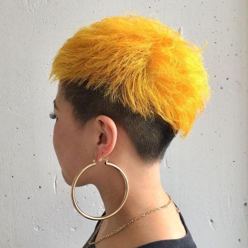 Black and Yellow Pixie Undercut