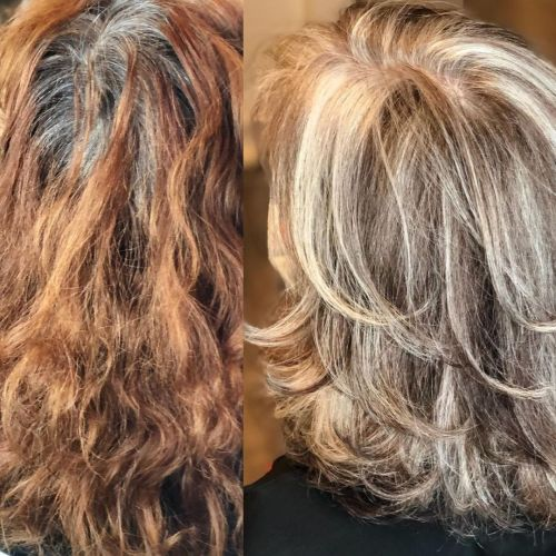 Highlights and Lowlights to Facilitate Transition to Gray Hair