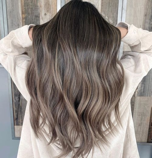 Long Hair Dyed Ash Brown