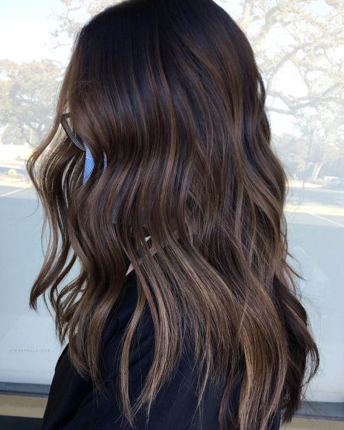 Dark Hair Dyed Without Bleaching