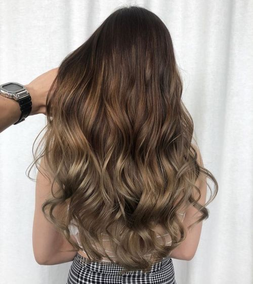Long Beach Waves Toned to Cool Brown Color