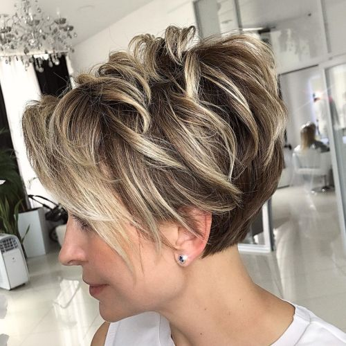 Shaggy Pixie Cut with Blonde Balayage