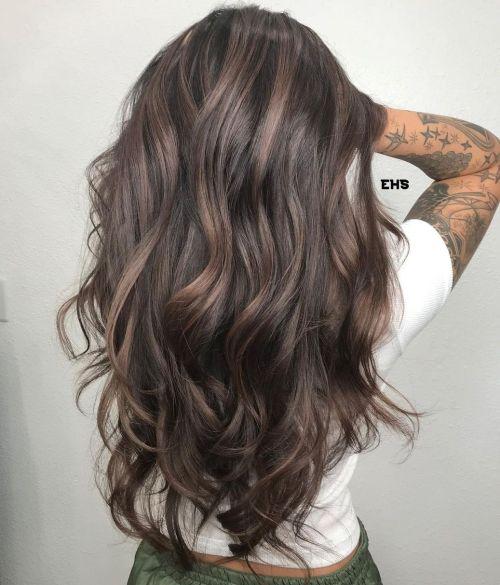 Mushroom Hair Color of Long Hair