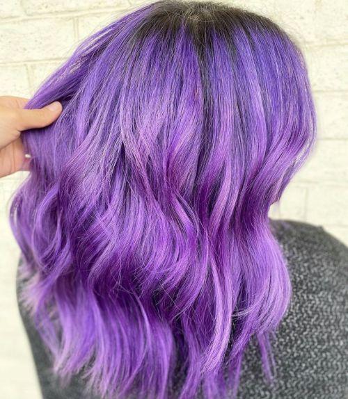 Neon Violet Hair Color
