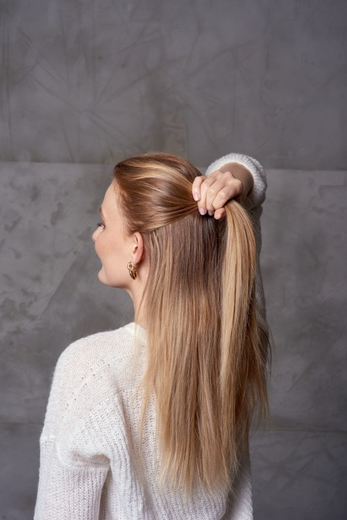 How to Start a Half Up Hald Down Hairstyle