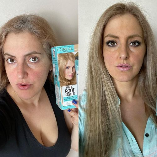 Covering Gray Hair with Permanent Color Touch Up Kit