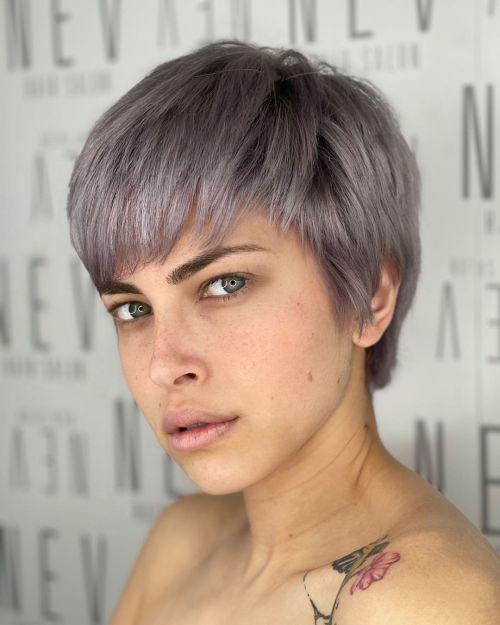 Short Metallic Gray Hair