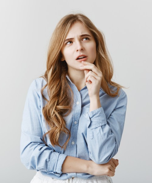 Woman Stressed About Keeping Curls in Her Hair